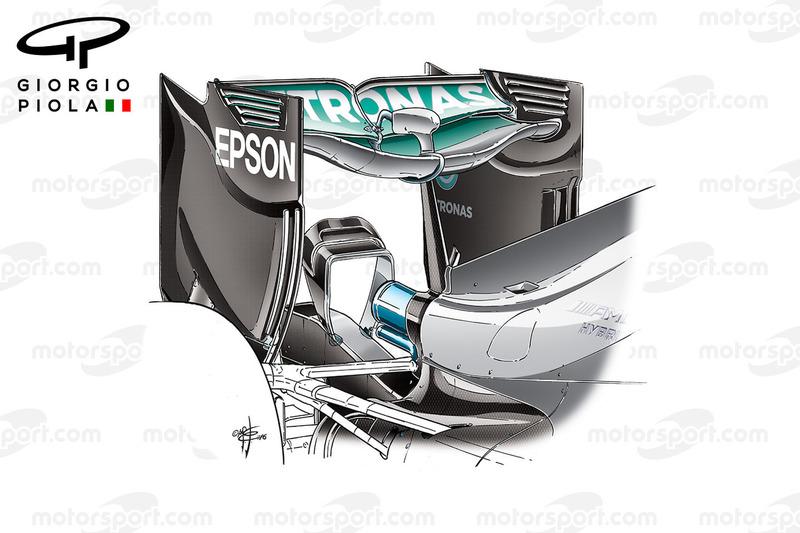 Mercedes F1 W07: Heckflügel, GP Belgien