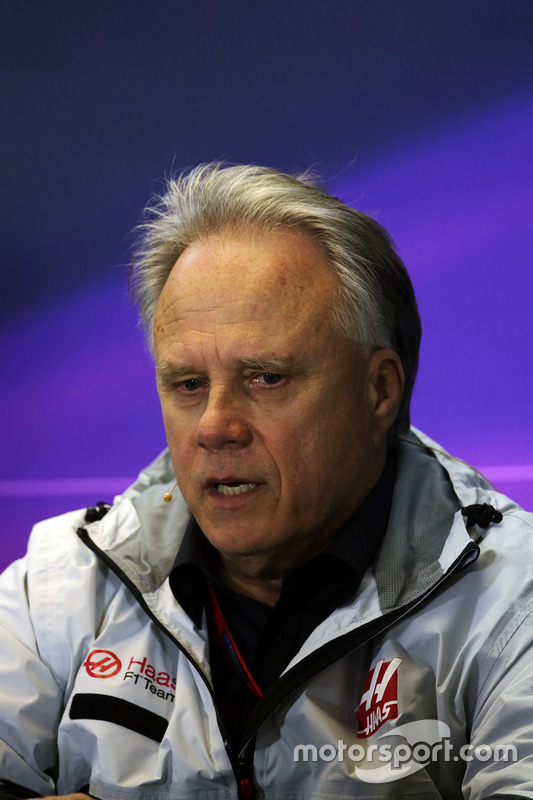 Gene Haas, Haas Automotion President in de FIA persconferentie