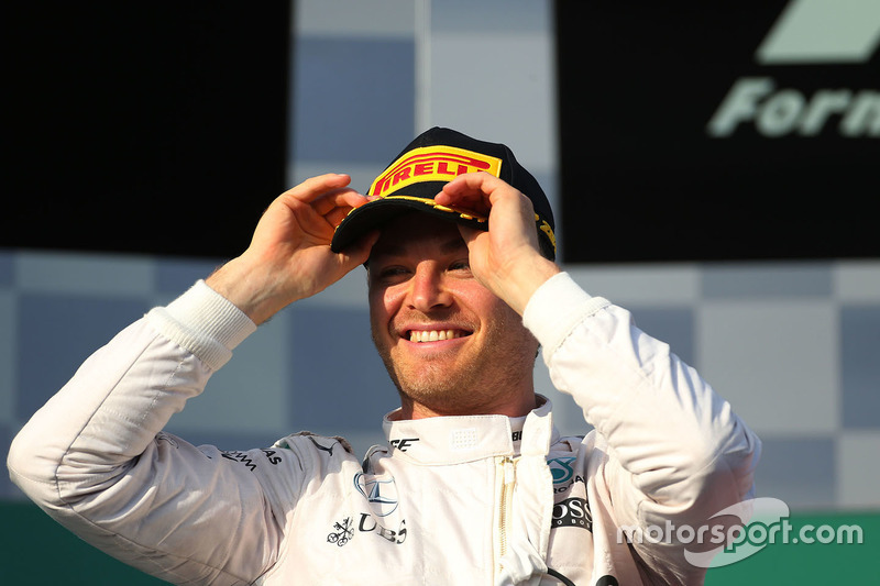 Podium: Sieger Nico Rosberg, Mercedes AMG F1 Team