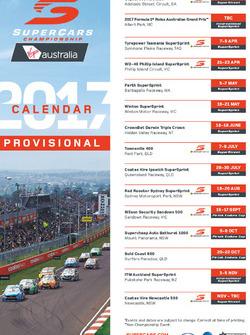 2017 Supercars calendar