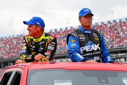 Clint Bowyer, HScott Motorsports Chevrolet, Michael Waltrip, BK Racing Toyota