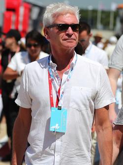 Philip Schofield, in the paddock