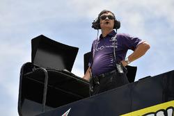 Brandon Jones, Joe Gibbs Racing, Toyota Camry Toyota Comcast/NBC Universal Salute To Service crew chief Christopher Gabehart