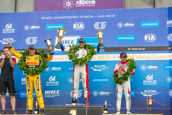 Podium: Race winner Mehdi Bennani, Sébastien Loeb Racing, Citroën C-Elysée WTCC, second place Tom Coronel, Roal Motorsport, Chevrolet RML Cruze TC1, third place Ryo Michigami, Honda Racing Team JAS, Honda Civic WTCC