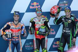 Qualifying Top 3: Dani Pedrosa, Repsol Honda Team, Cal Crutchlow, Team LCR Honda, Johann Zarco, Monster Yamaha Tech 3