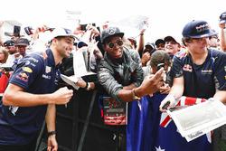 Daniel Ricciardo, Red Bull Racing, has his photo taken by a fan