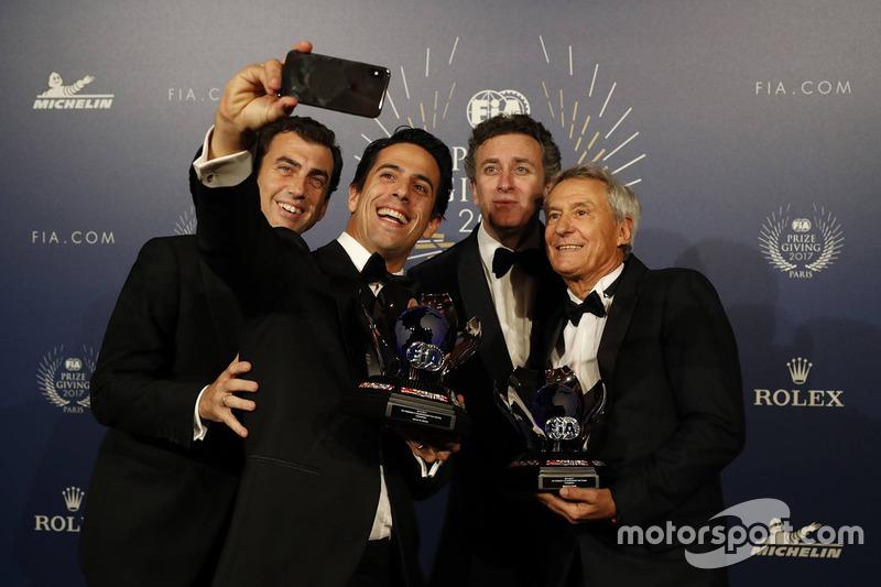 Lucas di Grassi, Alejandro Aggag and Jean Paul Driot