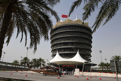 Sakhir Tower and helicopter