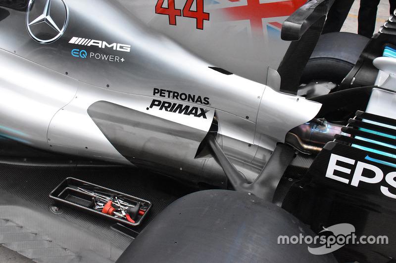 Trasera del Mercedes-Benz F1 W08