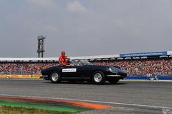 Sebastian Vettel, Ferrari, on the drivers parade