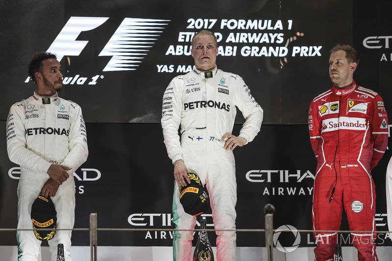 Abu Dhabi GP - Kazanan Valtteri Bottas, 2. Lewis Hamilton, 3. Sebastian Vettel