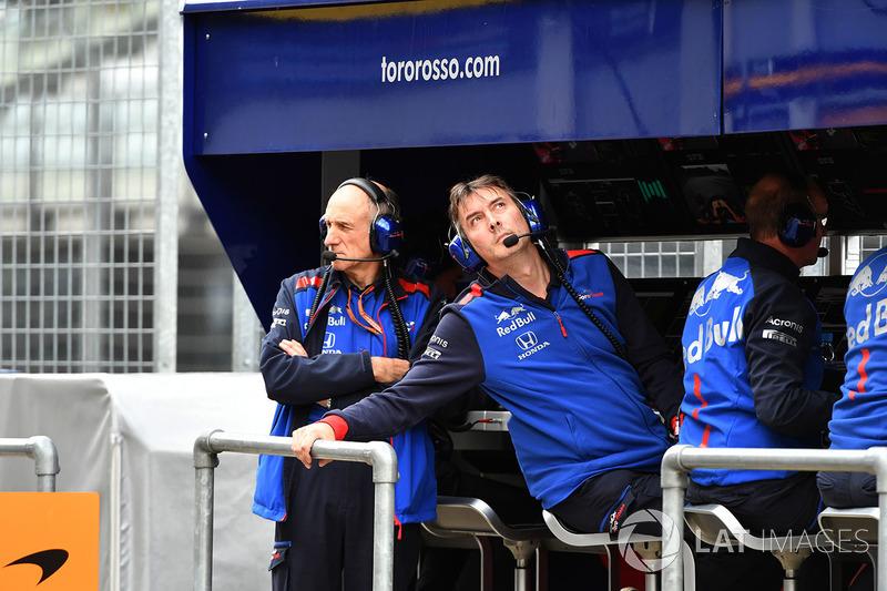 Керівник Scuderia Toro Rosso Франц Тост, технічний директор Toro Rosso Джеймс Кі