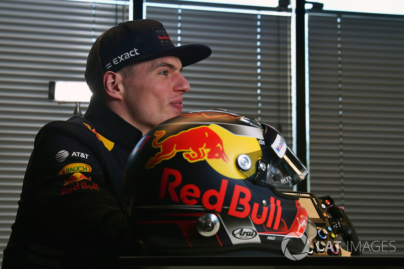 Max Verstappen, Red Bull Racing and helmet
