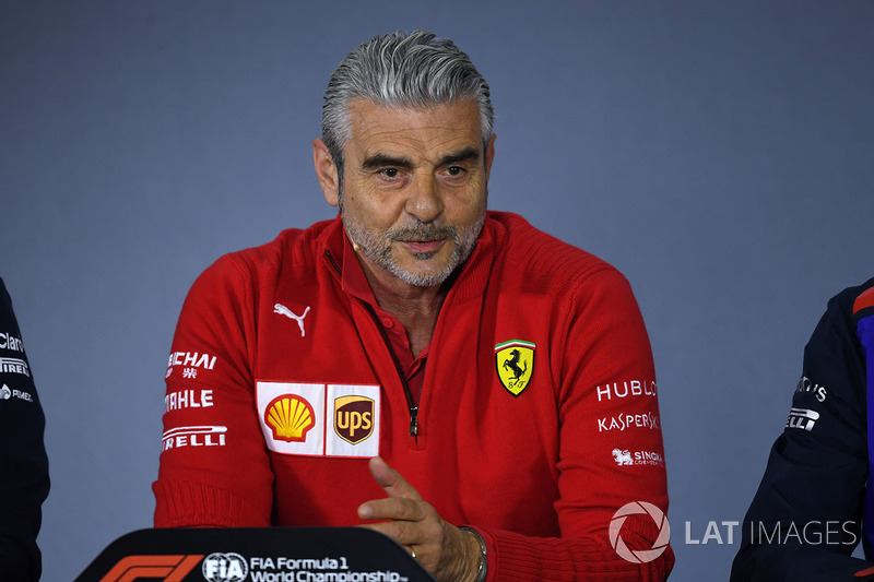 Maurizio Arrivabene, Ferrari Team Principal in the Press Conference