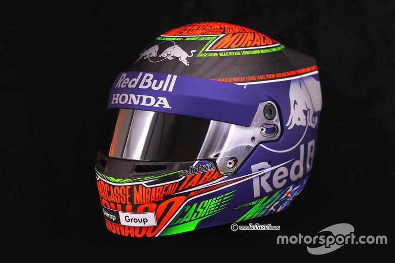 Brendon Hartley'nin Monako GP'sinde kullanacağı kask, Toro Rosso