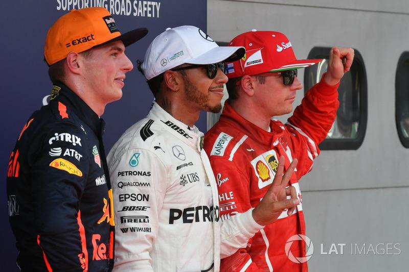 Кімі Райкконен, Ferrari, Льюіс Хемілтон, Mercedes AMG F1, Макс Ферстаппен, Red Bull Racing