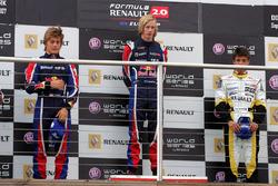 Podium: race winner Brendon Hartley, Epsilon Red Bull Team, second place Stefano Coletti, Epsilon Euskadi, third Nelson Panciatici, Boutsen Energy Racing