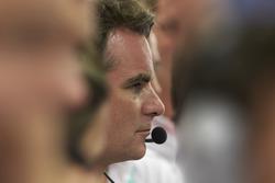 Jeff Gordon in the Mercedes AMG F1 garage