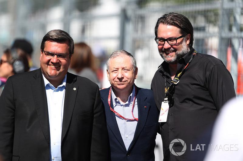 Denis Coderre, alcalde de Montreal y Jean Todt presidente de FIA