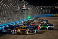 Daniel Suarez, Kyle Busch Motorsports Toyota leads a restart