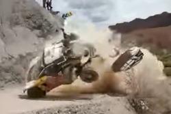 Unfall von Carlos Sainz, Peugeot 3008 DKR (Screenshot)