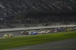Matt Crafton, ThorSport Racing Toyota, Ben Rhodes, ThorSport Racing Toyota, Johnny Sauter, GMS Racing Chevrolet