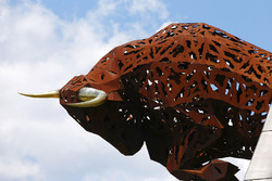 Skulptur am Red-Bull-Ring in Spielberg
