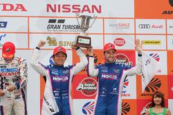 GT 500 podium: third place #6 Team LeMans Lexus LC500: Kazuya Oshima, Andrea Caldarelli