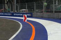 GP Singapore, dettaglio del cordolo