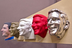 The process of creating Alexander Rossi's image for the Borg-Warner Trophy begins with photos and studio sitting with Rossi, then transforms from clay to ceramic to wax and finally to the sterling silver image that is seen on the historic trophy
