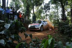 Gaurav Gill and Glenn MacNeall, Skoda Fabia R5, Team MRF