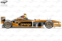 Arrows A23 side view