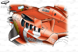 Ferrari F2005 side pods, wide exits