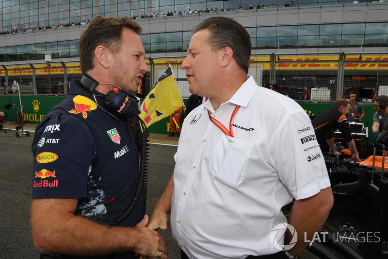 Christian Horner, Red-Bull-Teamchef, Zak Brown, McLaren-Chef