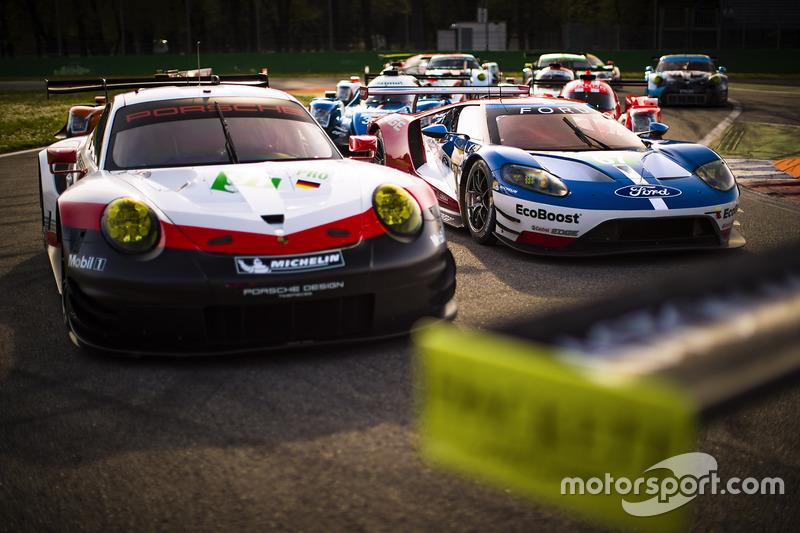 Gruppenfoto: GT-Autos für die WEC-Saison 2017