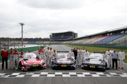 All 2017 drivers with Dieter Gass, Head of DTM Audi Sport, Jens Marquardt, BMW Motorsport Director, Ullrich Fritz, Team principal Mercedes-AMG HWA