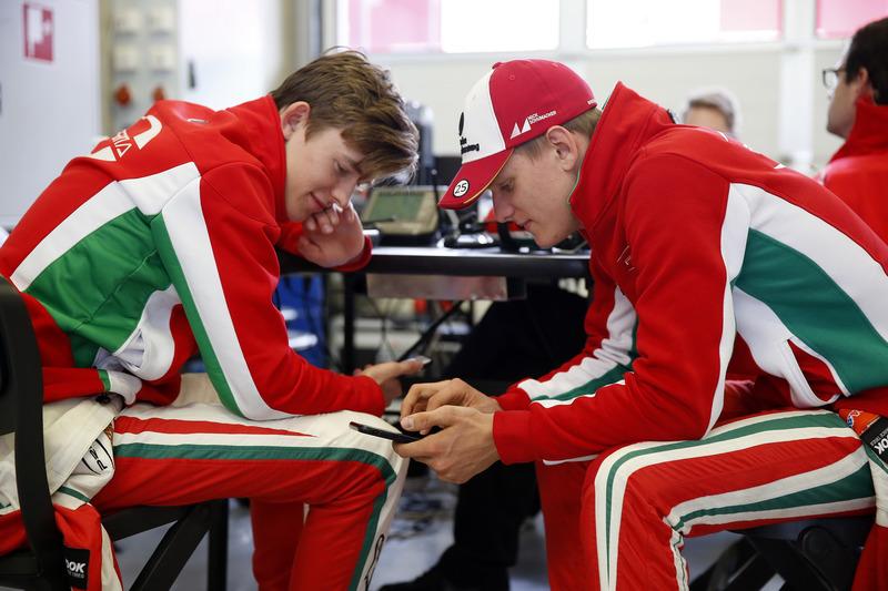 Callum Ilott, Prema Powerteam, Dallara F317 - Mercedes-Benz and Mick Schumacher, Prema Powerteam, Da