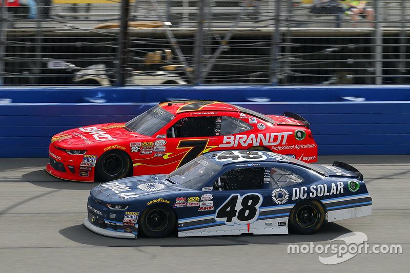 Brennan Poole, Chip Ganassi Racing, Chevrolet; Justin Allgaier, JR Motorsports, Chevrolet