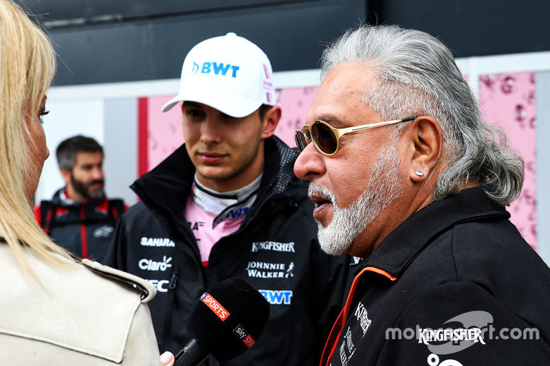 Естебан Окон, Sahara Force India, власник Sahara Force India Formula One Team Віджей Маллья