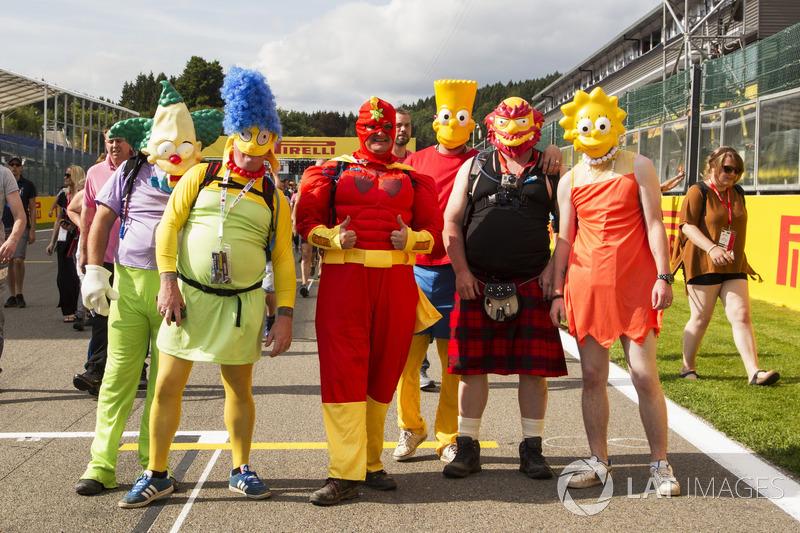 Fans in costume