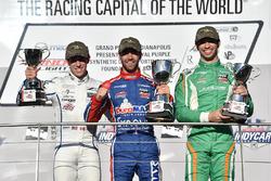 Podium : le vainqueur Nico Jamin, Andretti Autosport, le deuxième, Zachary Claman De Melo, Carlin, le troisième, Kyle Kaiser, Juncos Racing