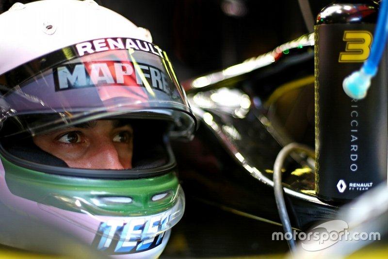 Test kaskı, Daniel Ricciardo, Renault F1 Team
