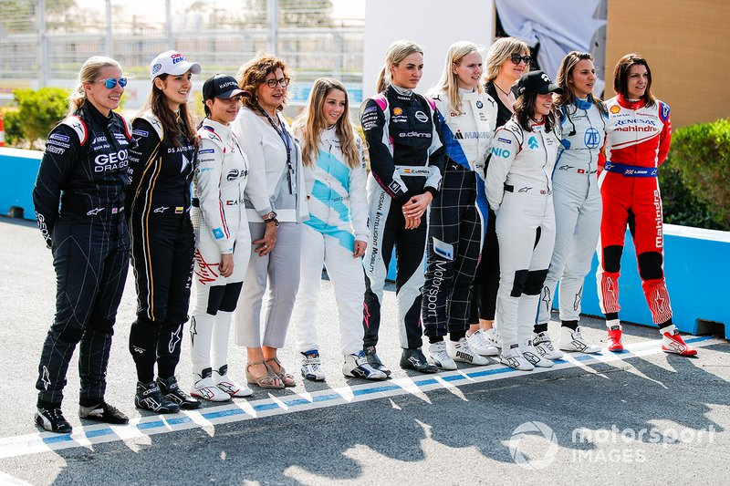 Driver line up for the test in Ad Diriyah
