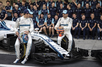 Sergey Sirotkin, Williams Racing and Robert Kubica, Williams at the Williams Team Photo