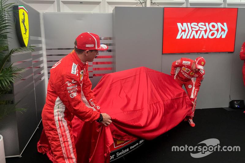 Sebastian Vettel, Kimi Raikkonen, al lancio della livrea Ferrari, Mission Winnow