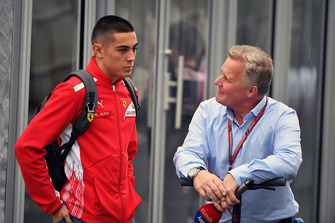 Johnny Herbert, Sky TV and Giuliano Alesi, Trident GP3 driver