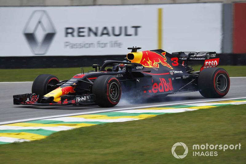 5. Daniel Ricciardo, Red Bull Racing RB14 locks up