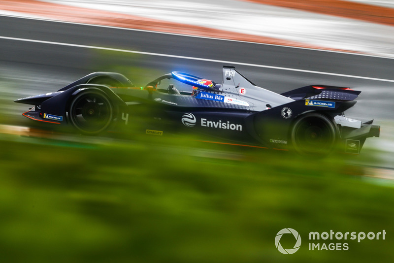 Robin Frijns, Envision Virgin Racing, Audi e-tron FE05 with the new hyper boost LED lights on the halo