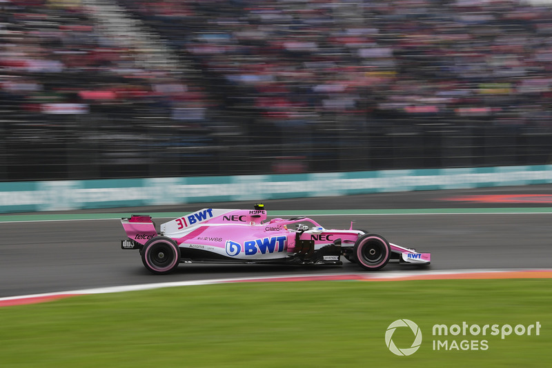 After being forced to pit on lap 1, Ocon was involved in another incident later in the race