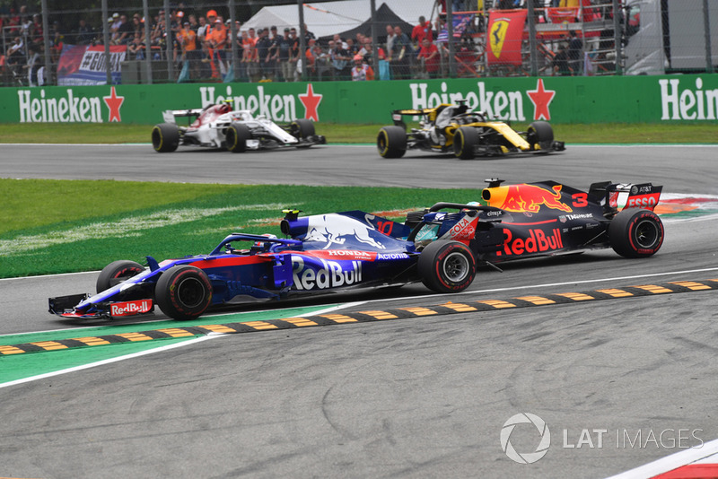 Брендон Хартлі, Scuderia Toro Rosso STR13, Даніель Ріккардо, Red Bull Racing RB14